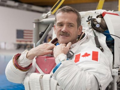 Chris Hadfield in Spacesuit